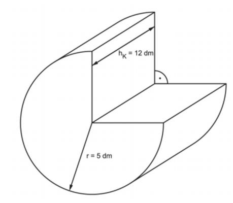 Zylinderkörper zur Oberflächenberechnung