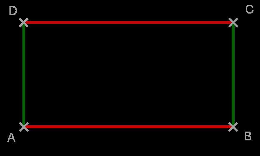 Rechteck Seiten gleich lang