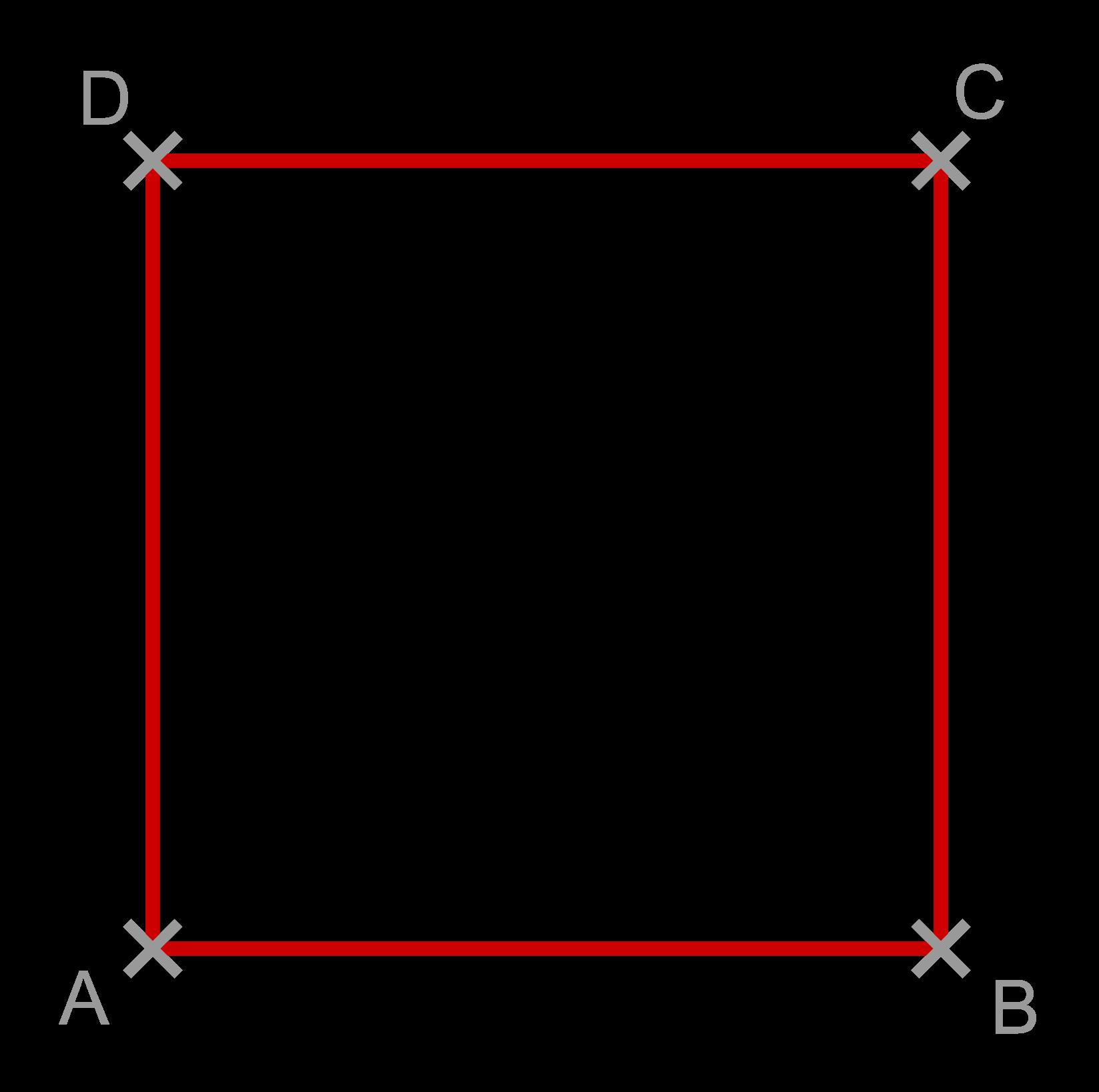 Quadrat vier gleich lange Seiten
