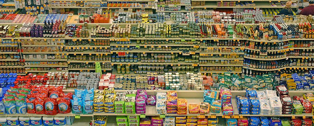 Ein Supermarkt in Amerika