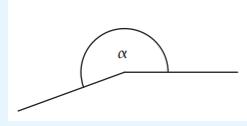 Skizze eines Winkels
