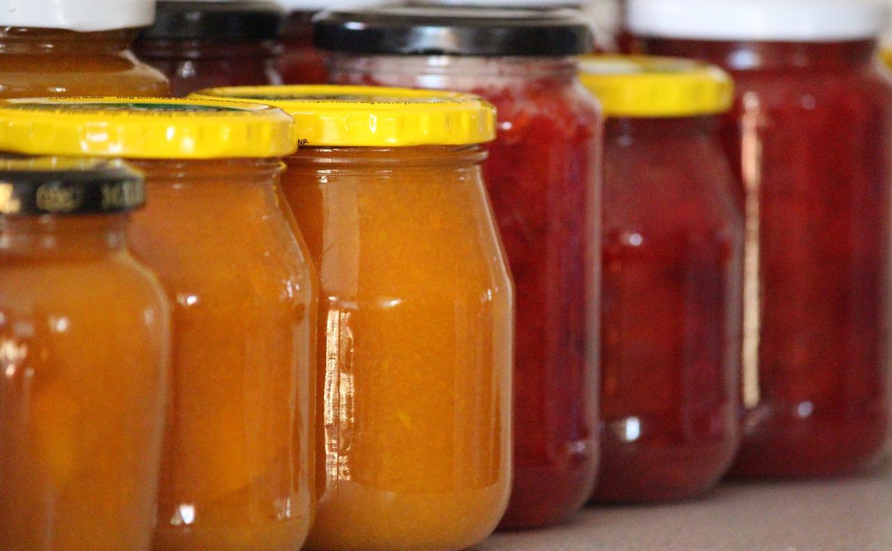 Marmeladenglas zum Einmachen, auch für Gemüse
