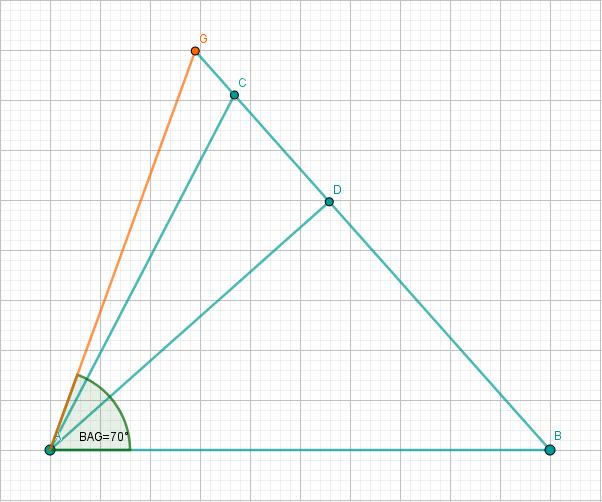 Dreiecke ABD, ABC und ABG