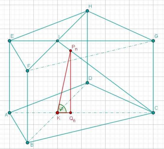 Im Prisma ist das Dreieck QnPnK eingezeichnet