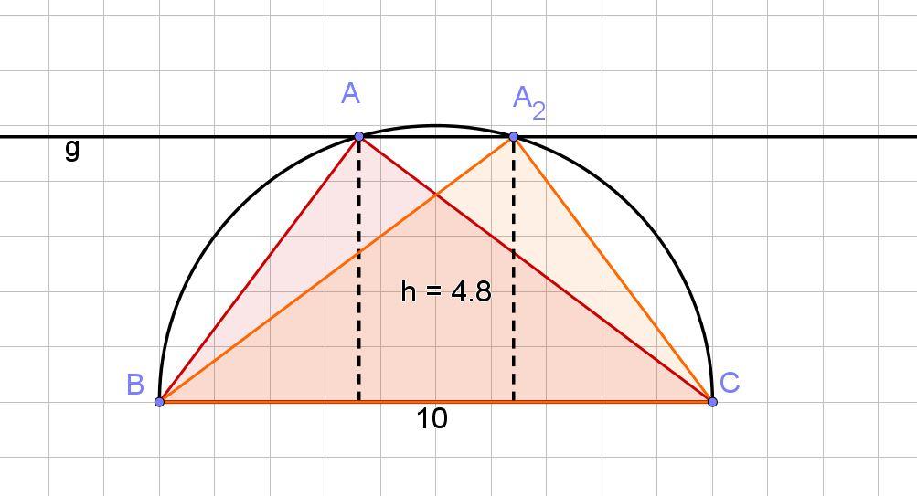 Thaleskreis mit zwei Dreiecken