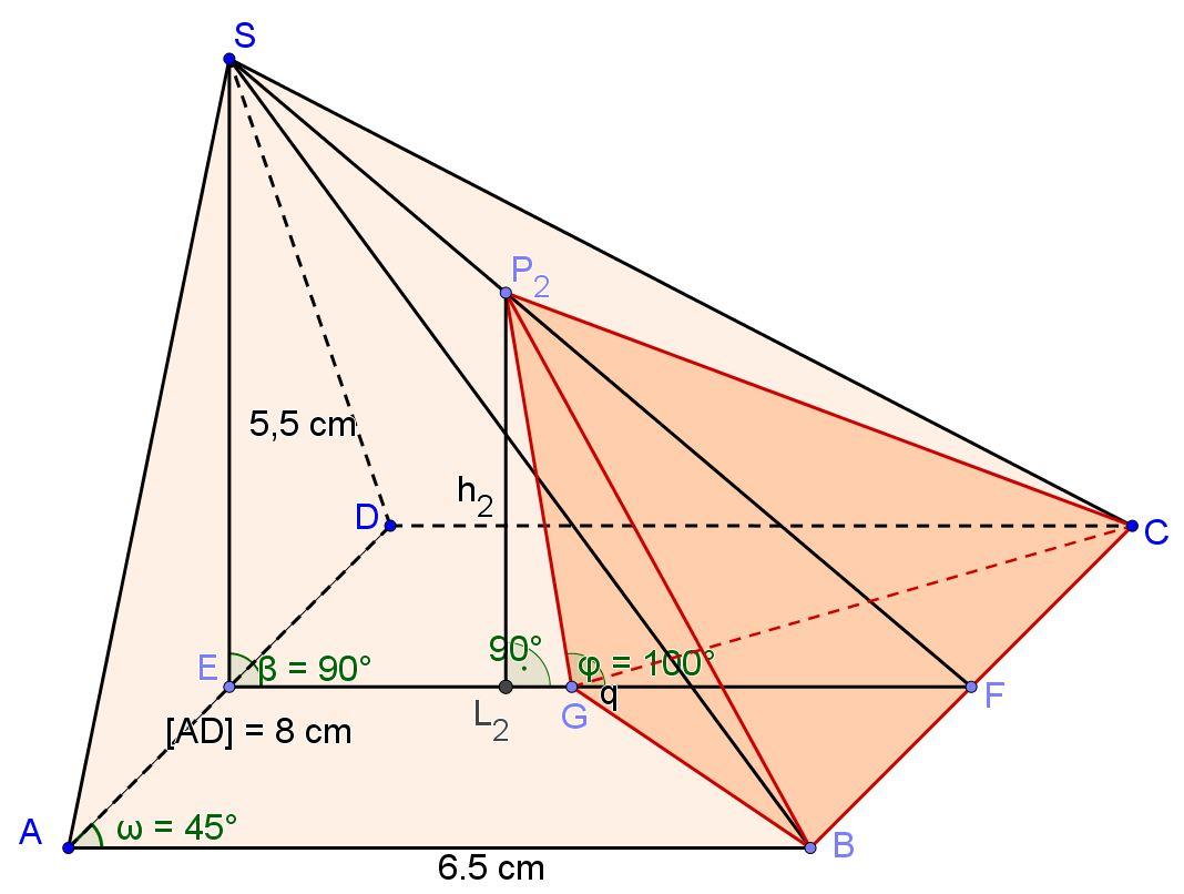 Pyramiden ABCDS und BCGP2
