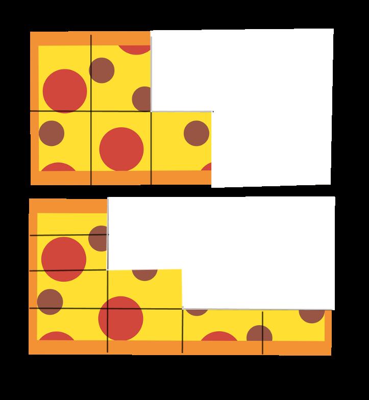 Pizza: zum Teil aufgegessen
