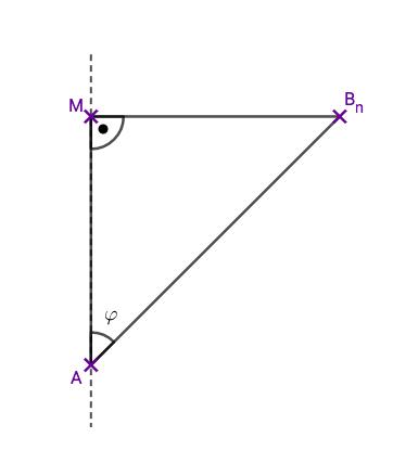 Skizze des Dreiecks