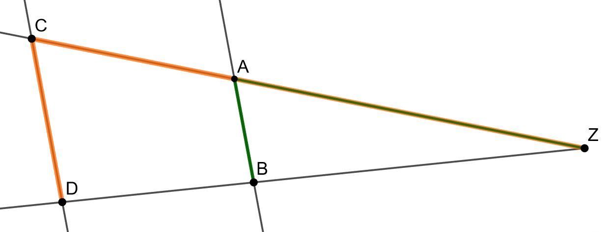 Strahlensatz Vierstreckensatz Grafik aus Formelsammlung