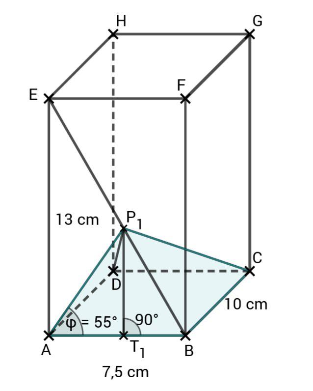 Pyramide im Quader