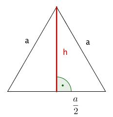 Höhe im gleichseitigen Dreieck