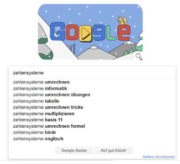 Dieses Bild beschreibt die Keywordsuche mit Google Suggest (auch Google Autocomlete genannt)
