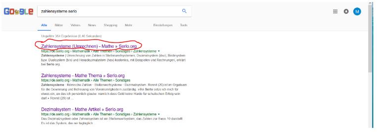 Das Bild zeigt die Position des Title Tag in der Google Suche