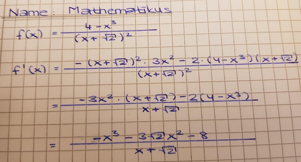 Aufgaben zur Quotientenregel - Mathe Themenordner » Serlo.org