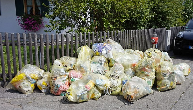 Plastikmüll im Haushalt