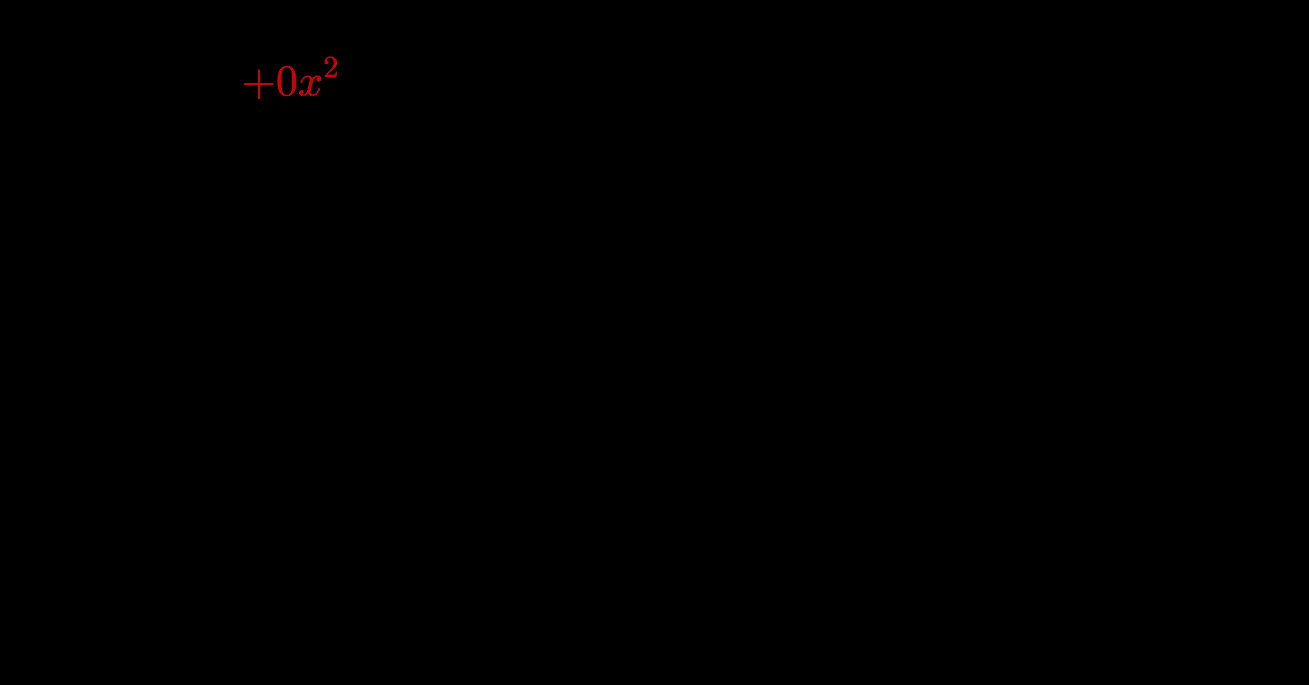 Polynomdivision mit fehlendem Exponenten