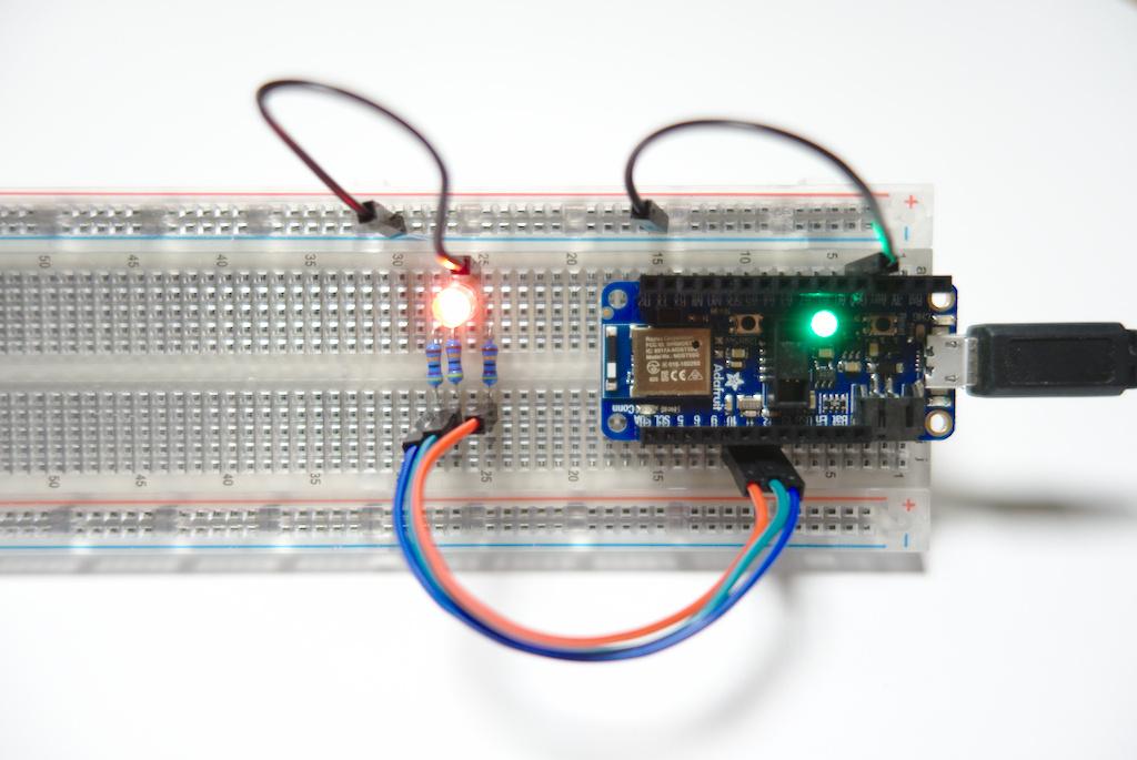 Steckbrett mit LED