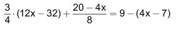 Gleichung mit einer Unbekannten