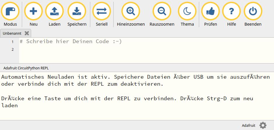 Mu-Editor GUI