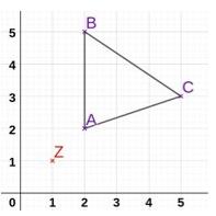 Dreieck ABC.