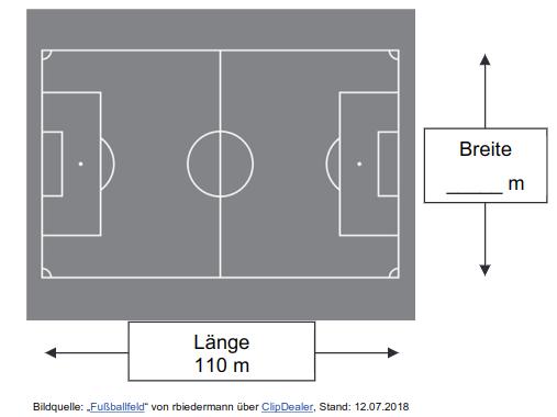 Umfang Fußballfeld