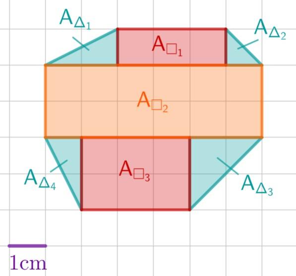 Zerlegung in Drei- und Vierecke
