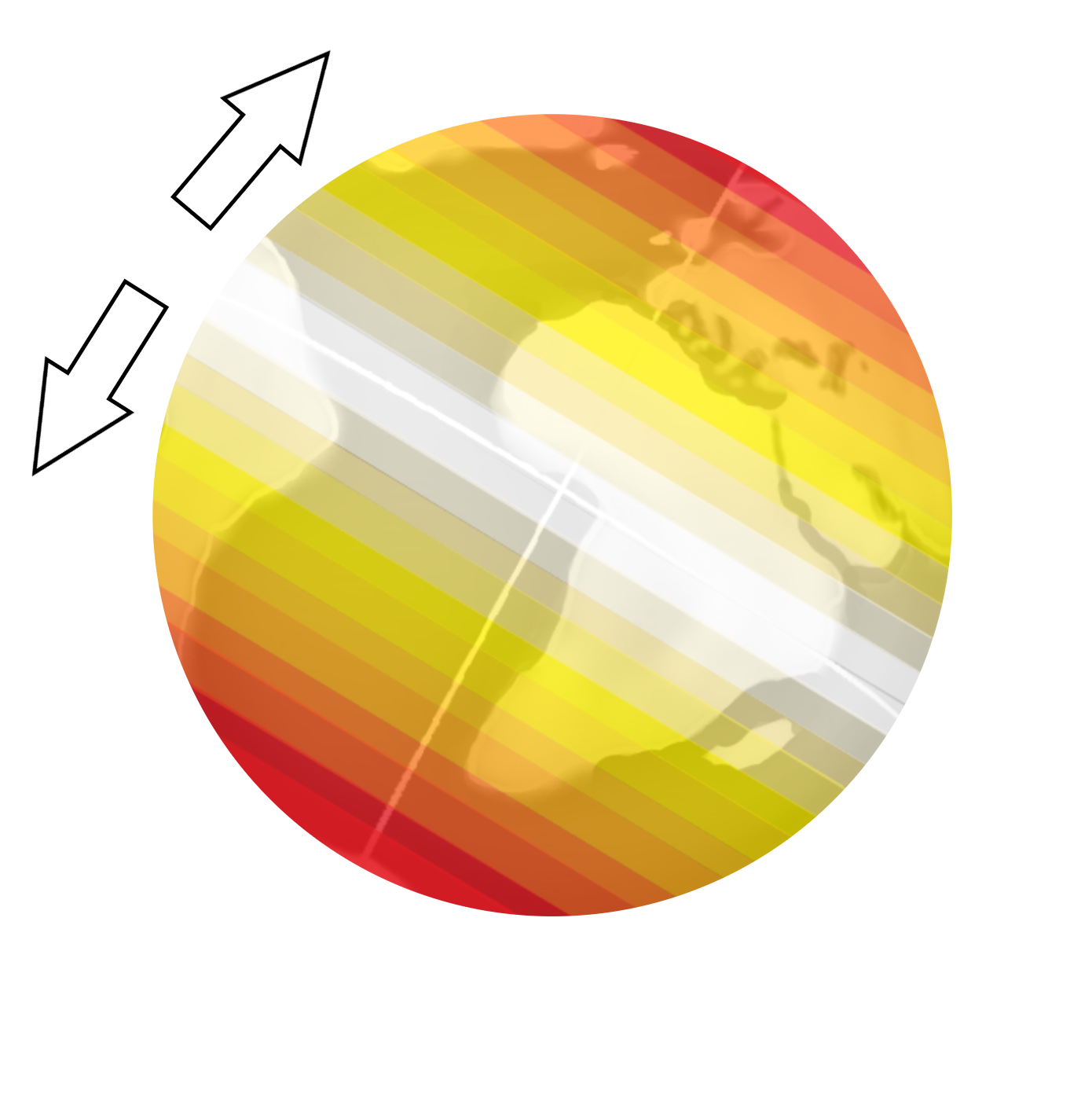 Veränderung der Stärke der Corioliskraft