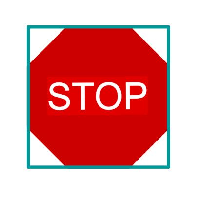 Quadrat um Stop Schild