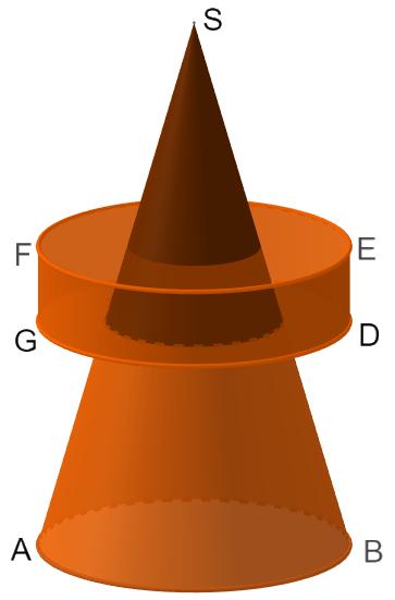 Kegelstumpf mit Zylinder