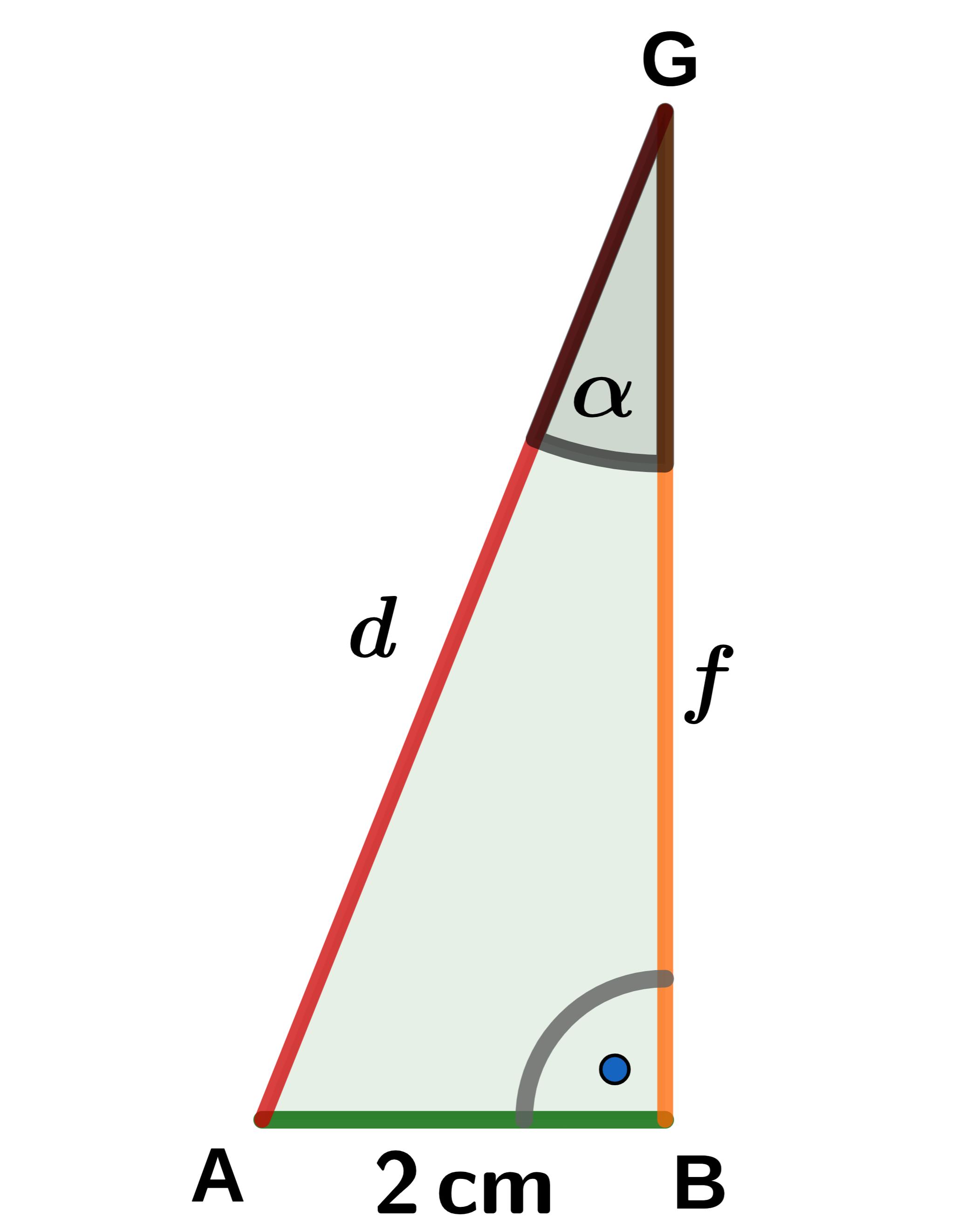 Skizze zur Aufgabe: Dreieck aus Kante, Flächendiagonale und Raumdiagonale