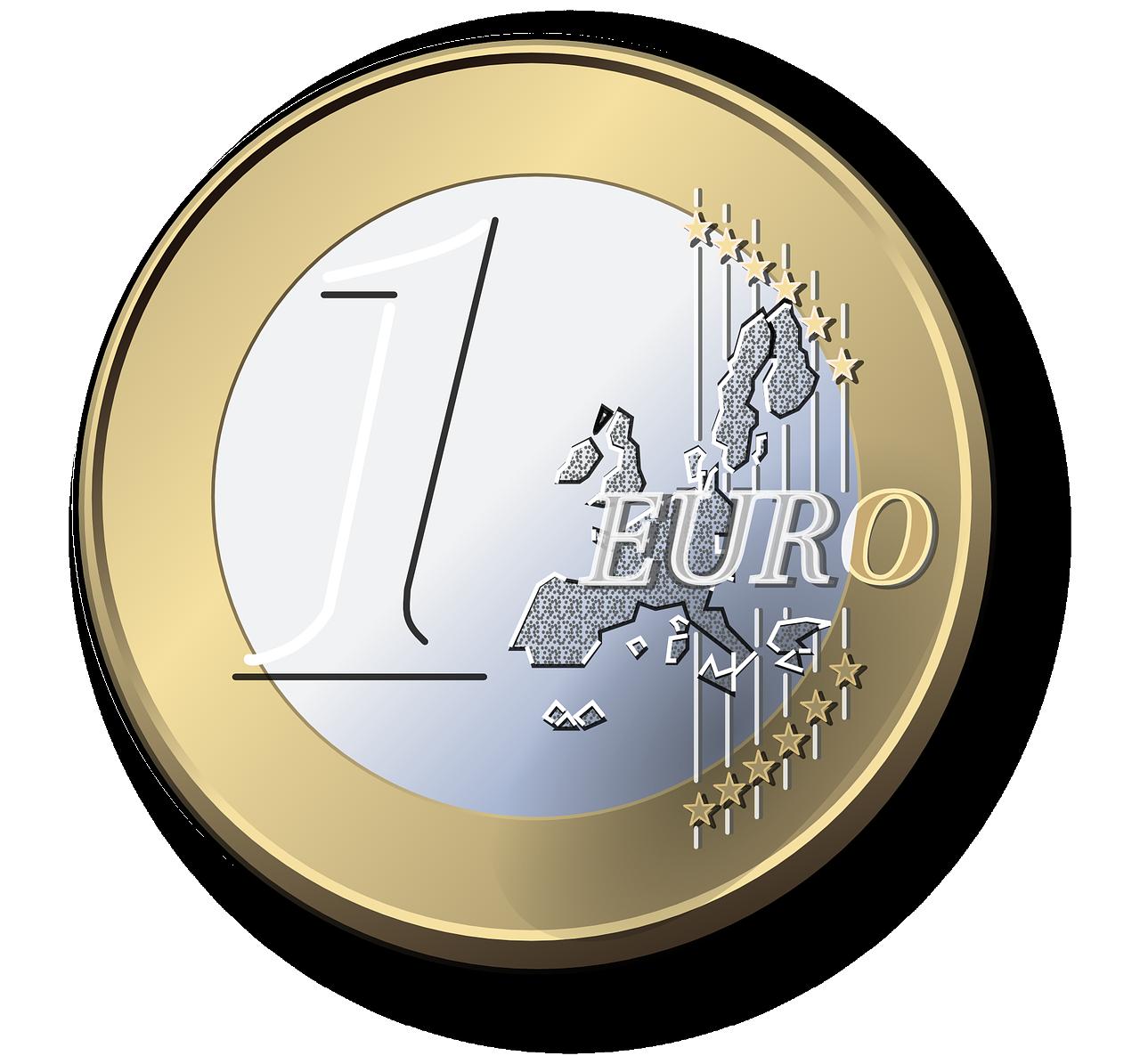 """Seite """"Zahl"""" von 1-Euro-Münze"""