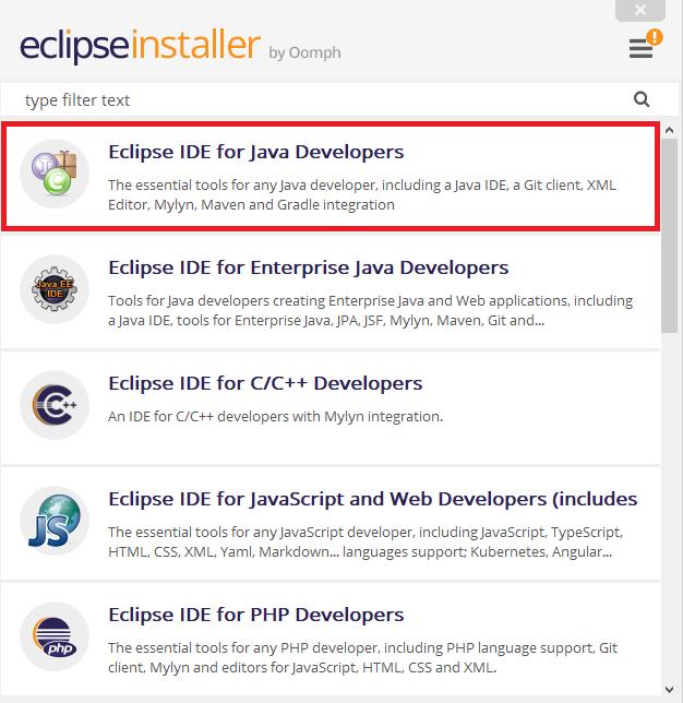 Abbildung 2.2 Eclipse installieren