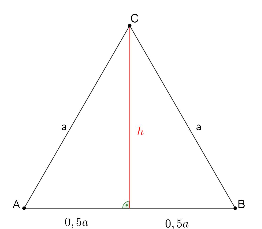 gleichseitiges Dreieck mit Pythagoras
