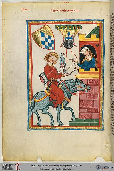 Leuthold von Seven im Codex Manesse