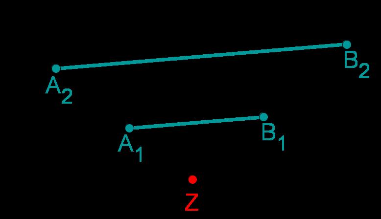 Strahlensatz - parallele Geraden - richtig
