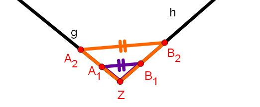 Strahlensatz V-Figur