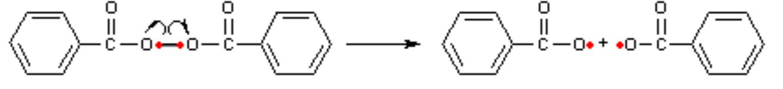 Zerfall von Benzolperoxid