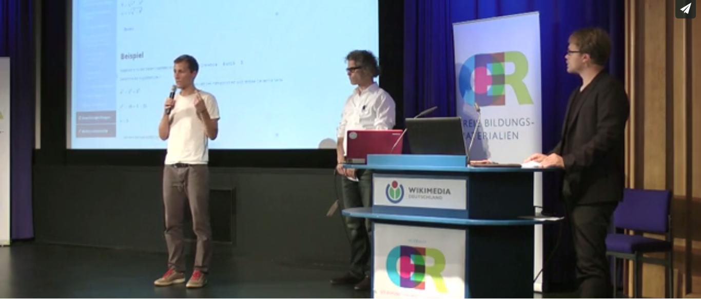 OER Konferenz Simon Köhl und Thomas Curran