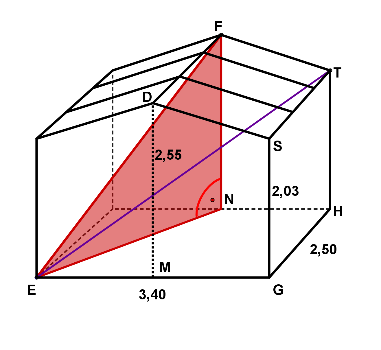 Skizze: Dreieck ENF