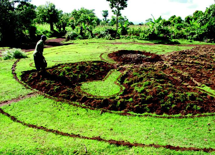 Mandala-Garten Bodenvorbereitung