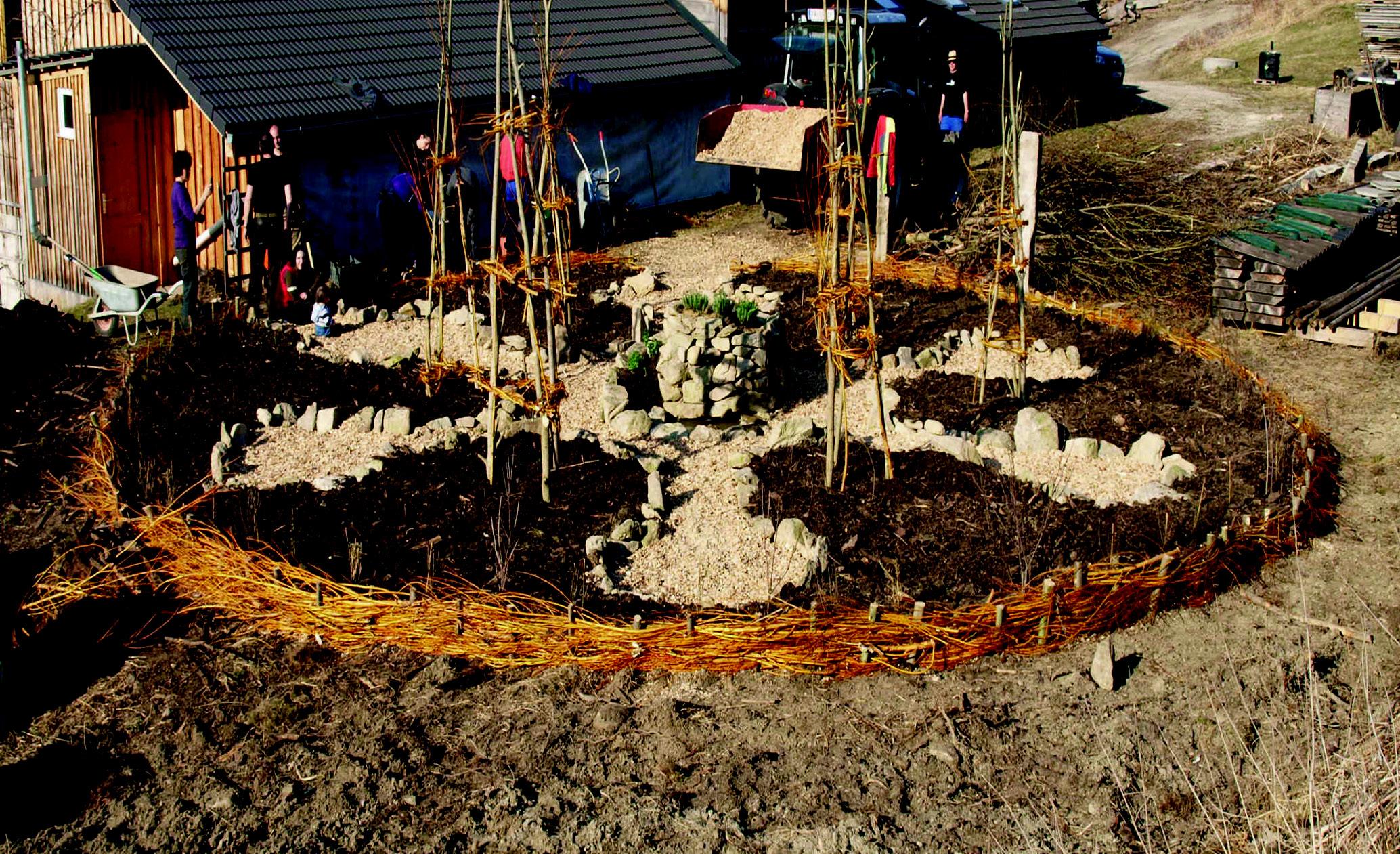 Mandala-Garten Ränder