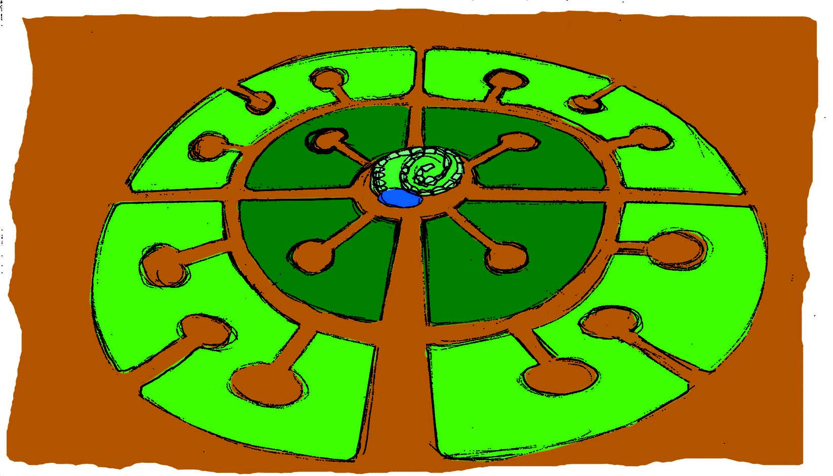 Mandala-Garten Erweiterung