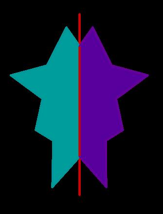 Beliebige Figur Achsensymmetrie