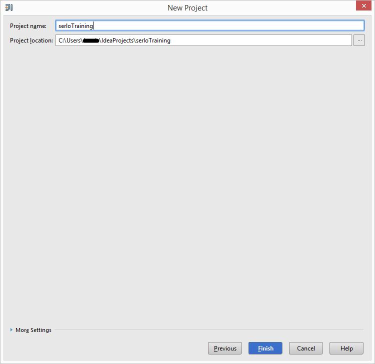 Screenshot zur Benennung eines neuen Projekts