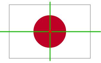 Japan Flagge Achsensymmetrie