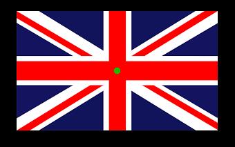 England Flagge Achsensymmetrie