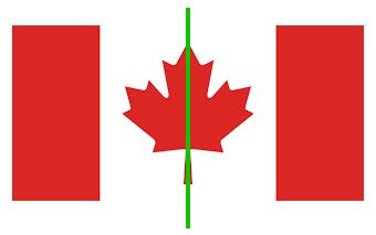 Kanada Flagge Achsensymmetrie