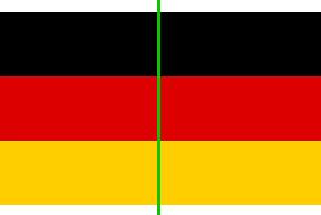 Deutschland Achsensymmetrie