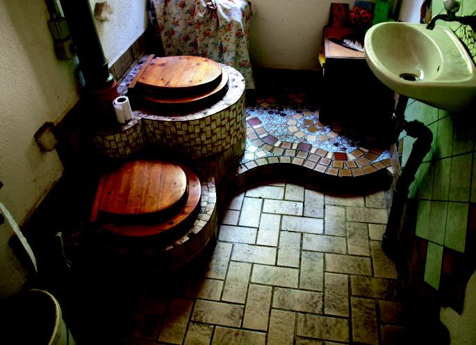 Kompostklo im Haus