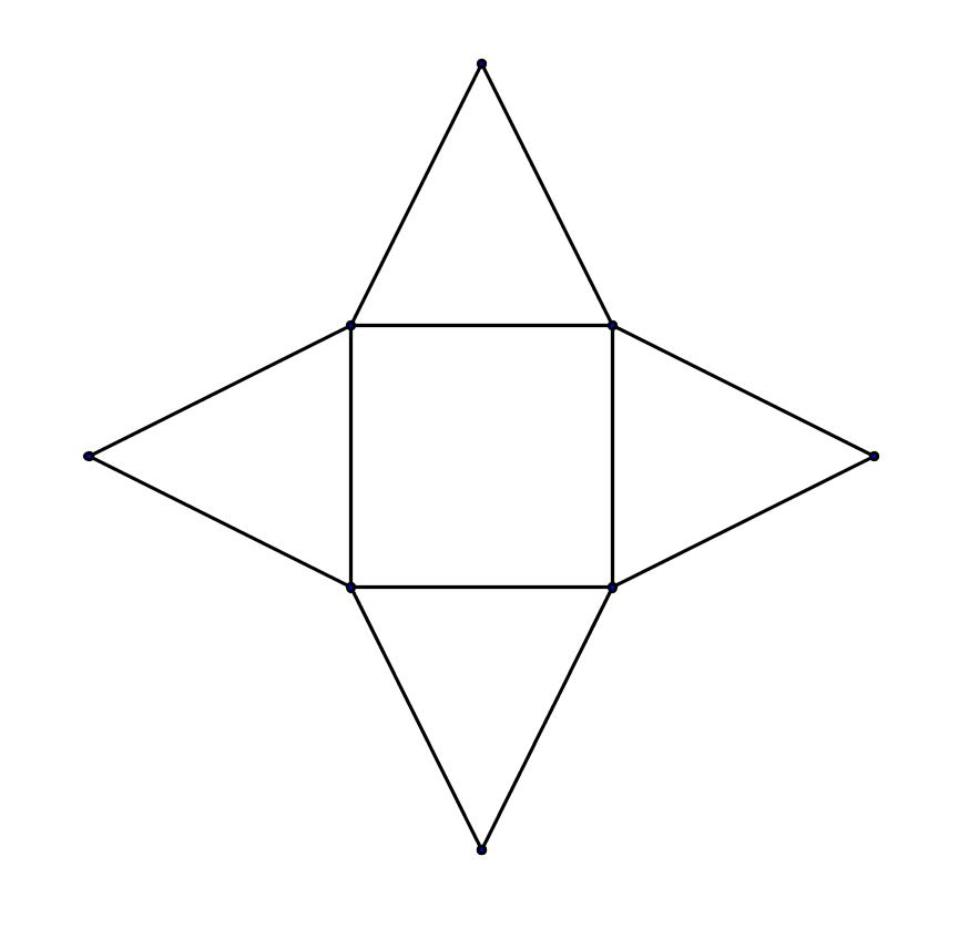 Netz vierseitige Pyramide